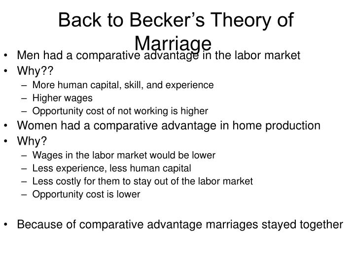 Back to Becker's Theory of Marriage