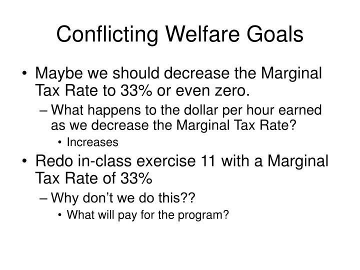 Conflicting Welfare Goals