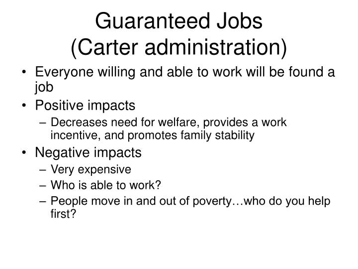 Guaranteed Jobs