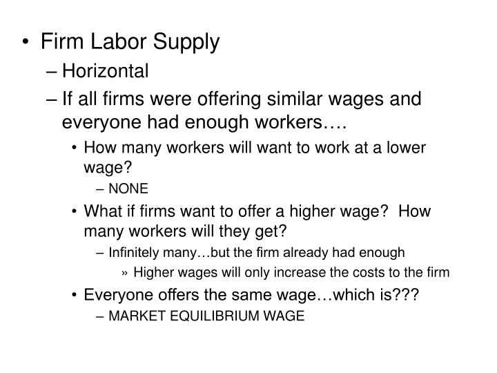 Firm Labor Supply