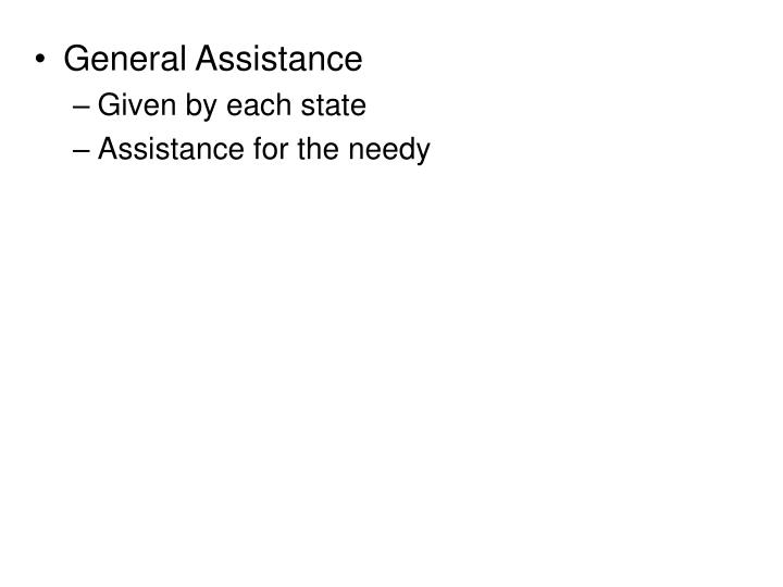 General Assistance