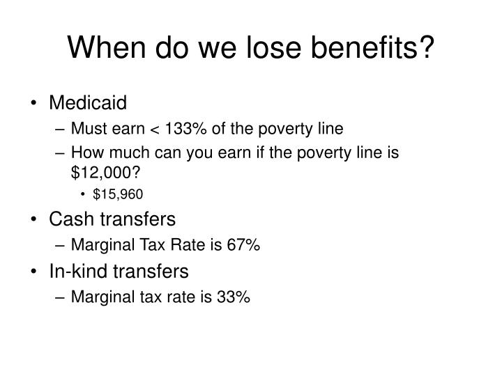 When do we lose benefits?