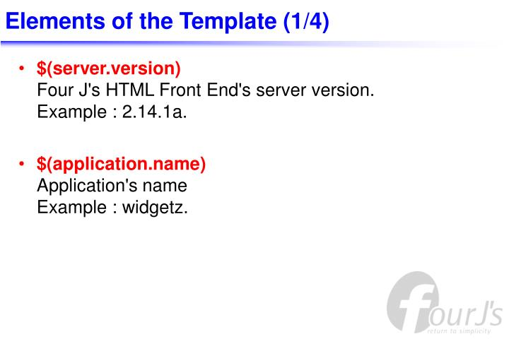 Elements of the Template (1/4)