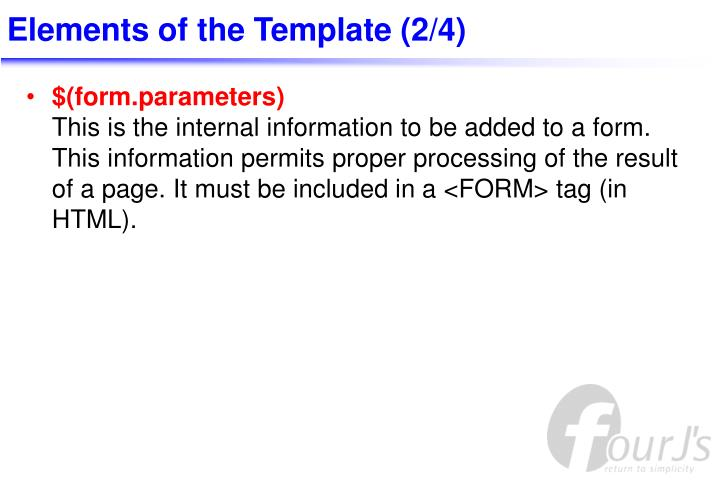 Elements of the Template (2/4)