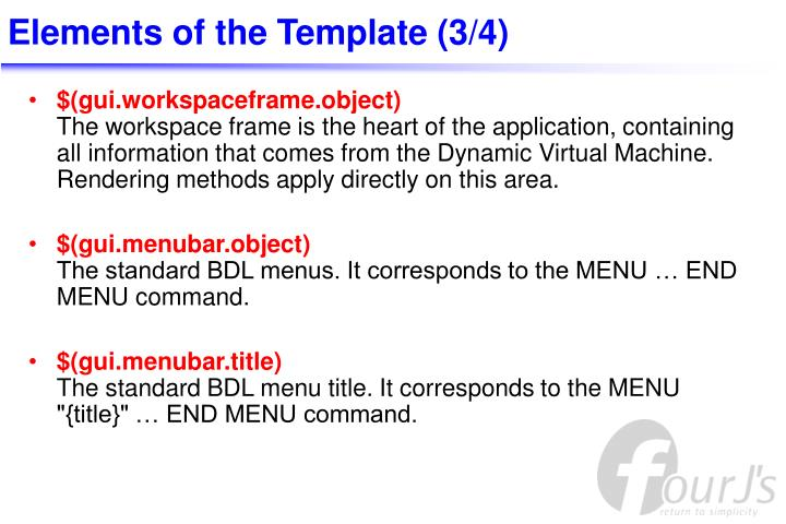 Elements of the Template (3/4)