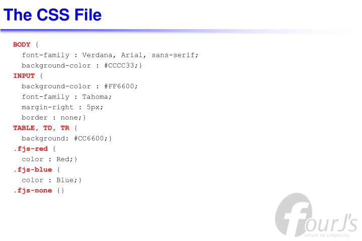 The CSS File