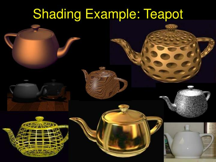 Shading Example: Teapot
