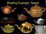 shading example teapot