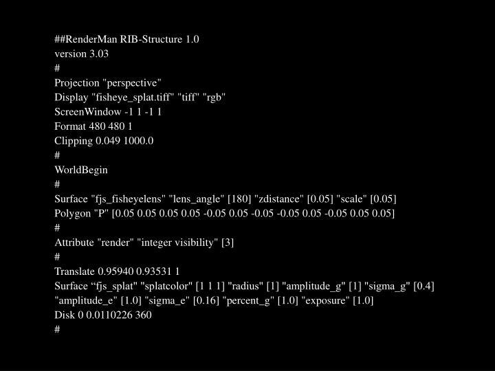 ##RenderMan RIB-Structure 1.0