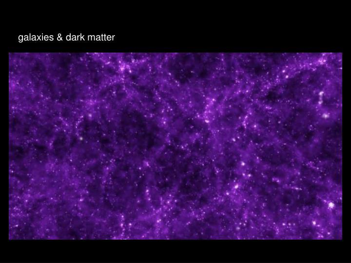 galaxies & dark matter