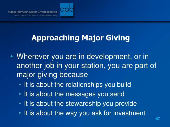 Approaching Major Giving