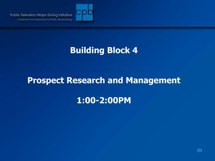 Building Block 4