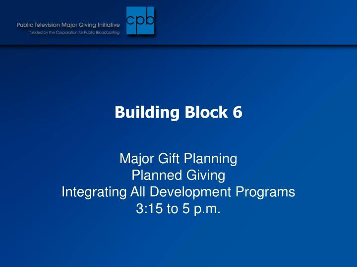 Building Block 6