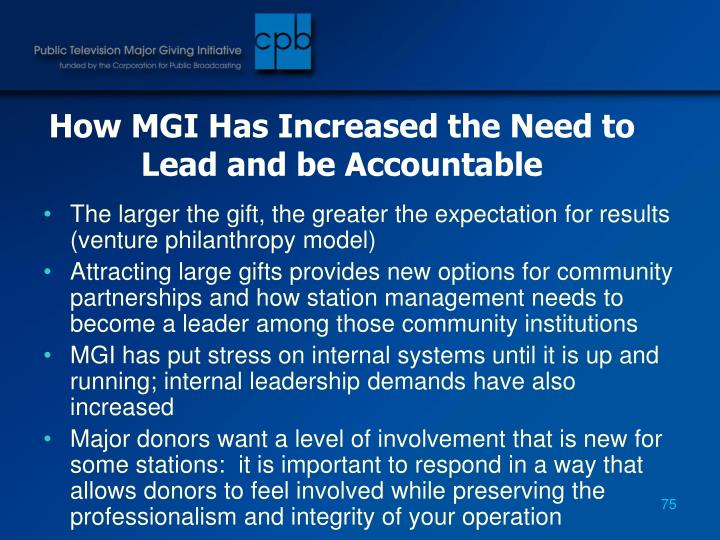 How MGI Has Increased the Need to Lead and be Accountable