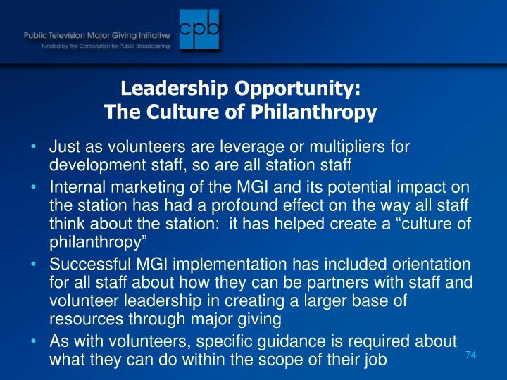 Leadership Opportunity: