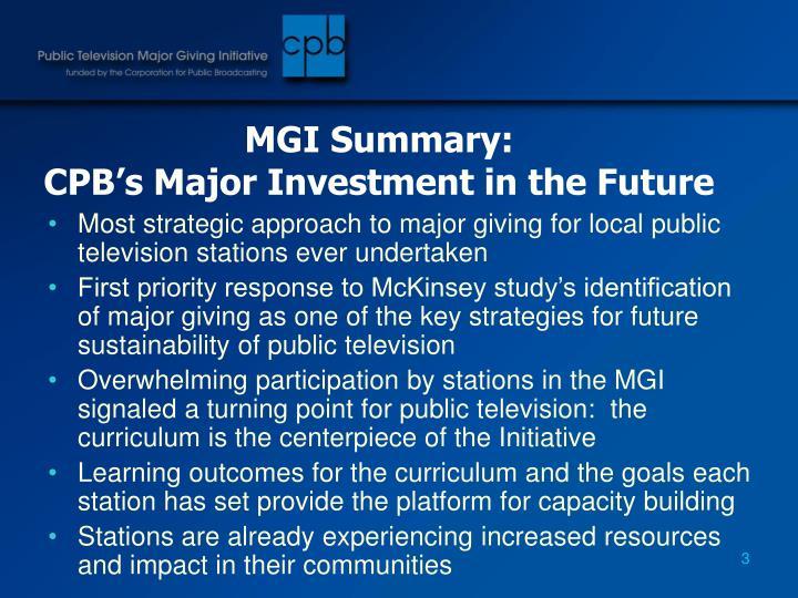 MGI Summary: