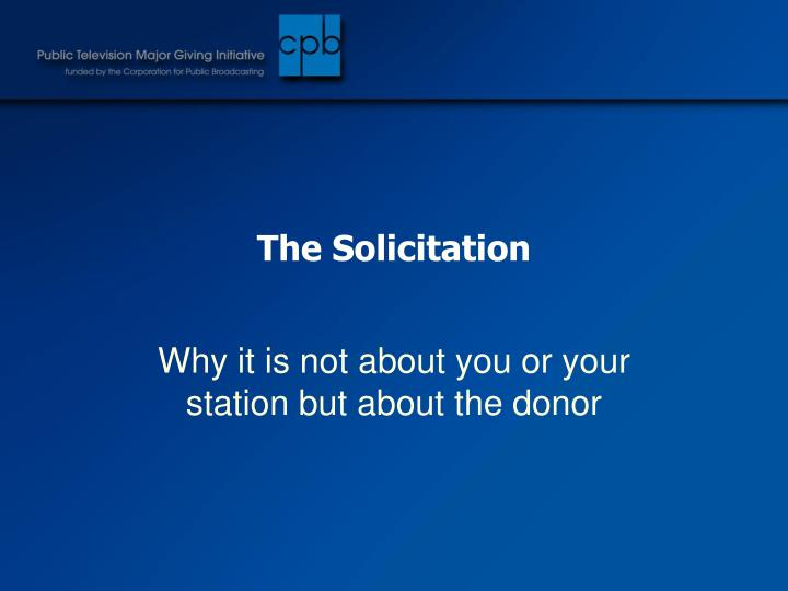 The Solicitation