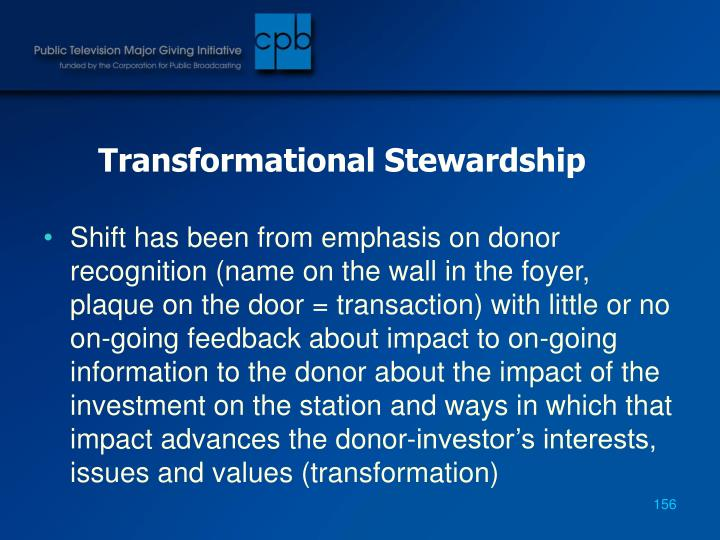 Transformational Stewardship