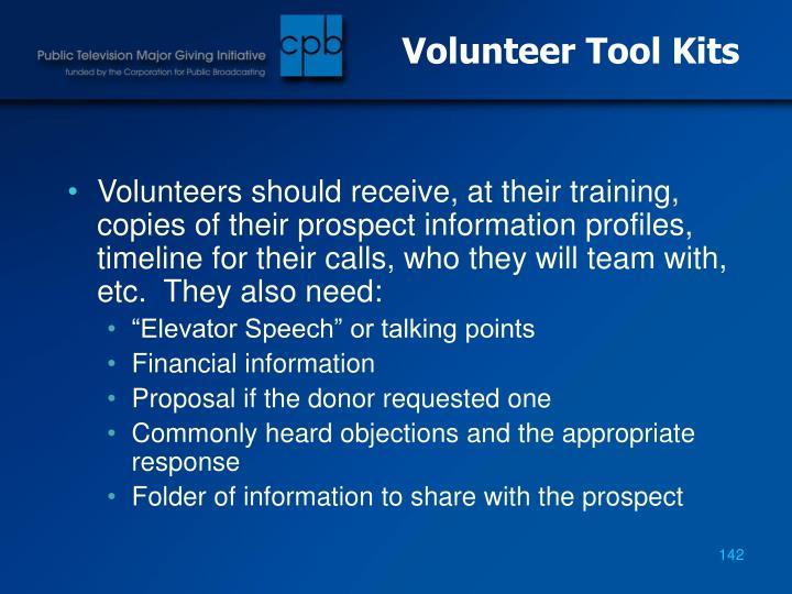 Volunteer Tool Kits