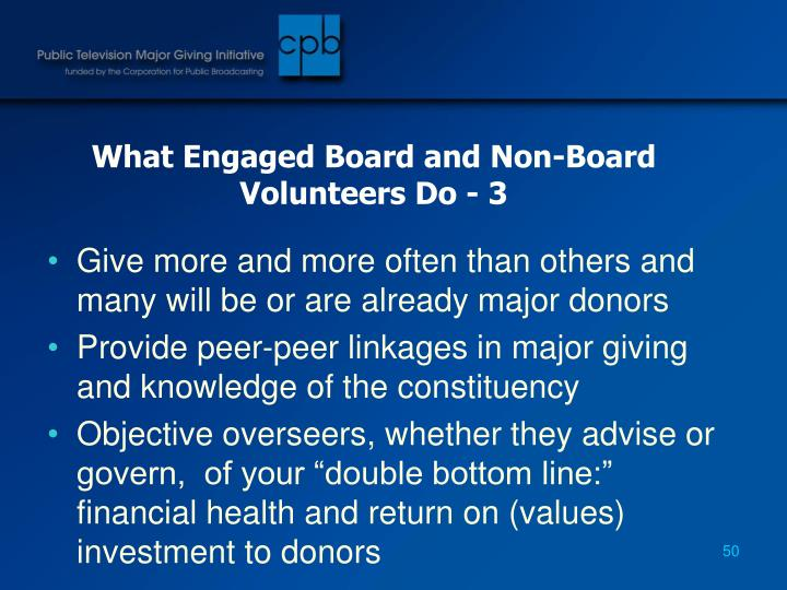 What Engaged Board and Non-Board Volunteers Do - 3