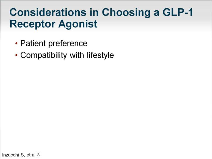 Considerations in Choosing a GLP-1 Receptor Agonist