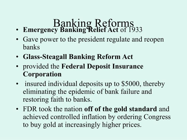 Banking Reforms