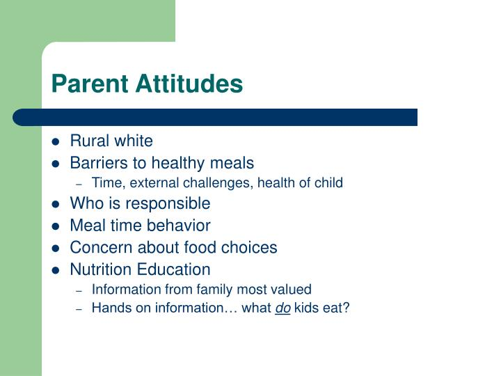 Parent Attitudes