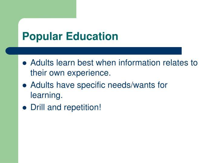 Popular Education