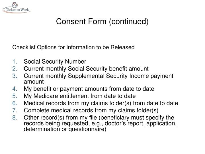 Consent Form (continued)