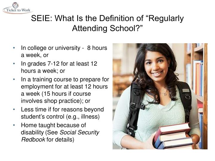 """SEIE: What Is the Definition of """"Regularly Attending School?"""""""