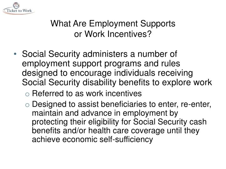 What Are Employment Supports