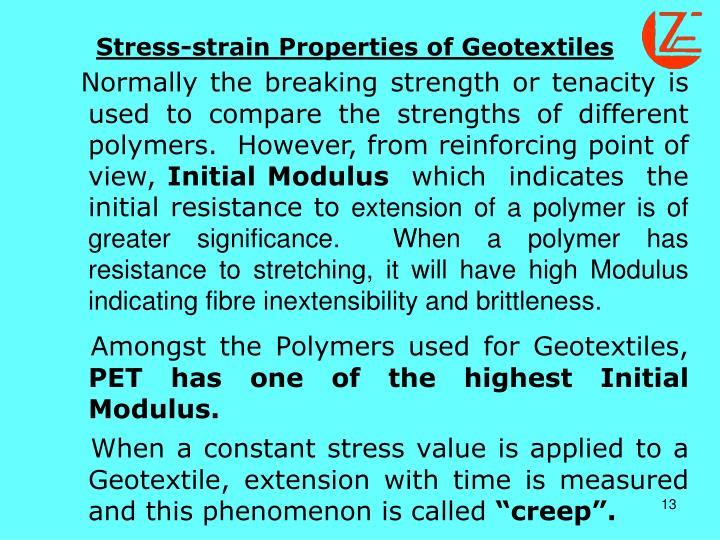 Stress-strain Properties of Geotextiles