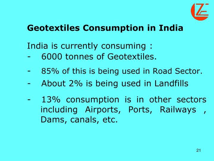 Geotextiles Consumption in India