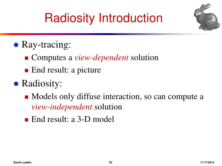 Radiosity Introduction