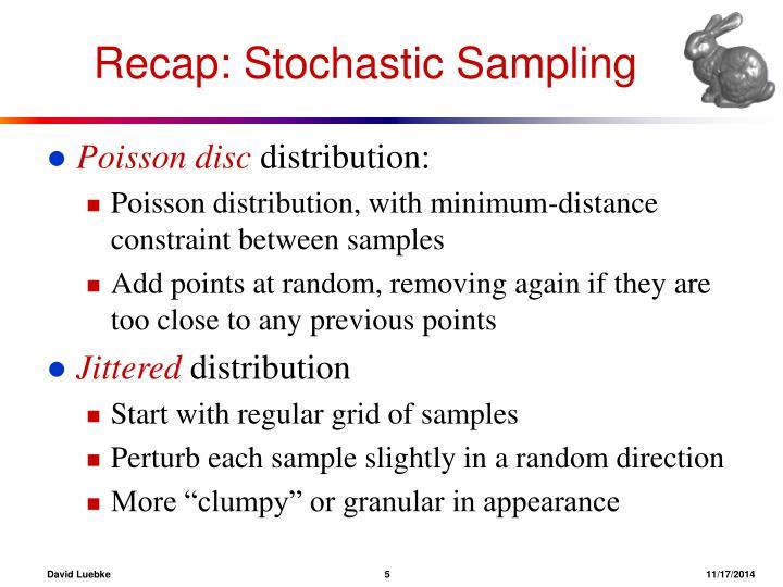 Recap: Stochastic Sampling
