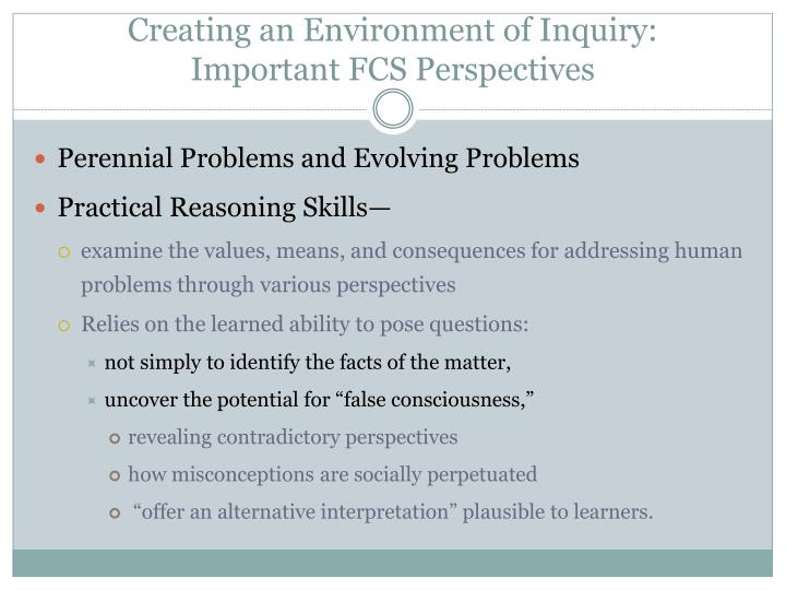 Creating an Environment of Inquiry: