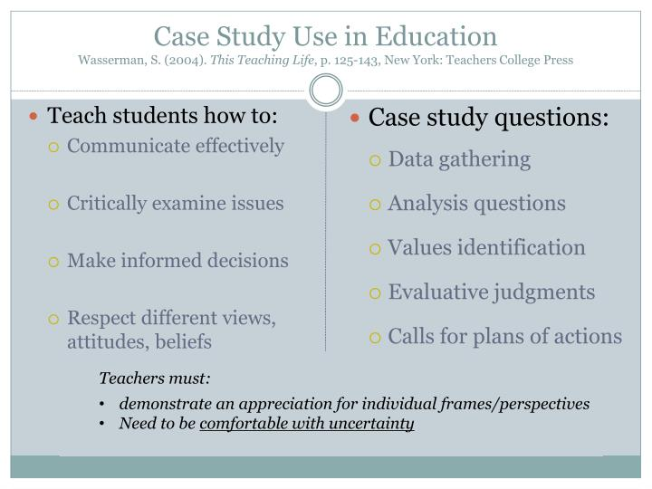 Case Study Use in Education
