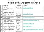 strategic management group