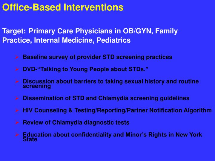 Office-Based Interventions