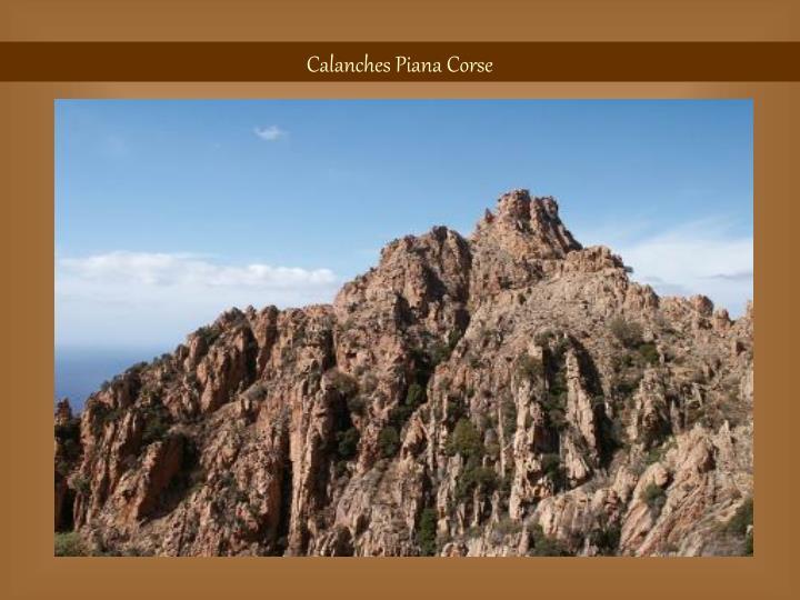 Calanches Piana Corse