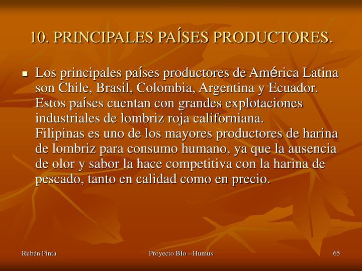 10. PRINCIPALES PA
