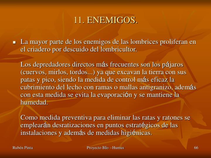 11. ENEMIGOS.