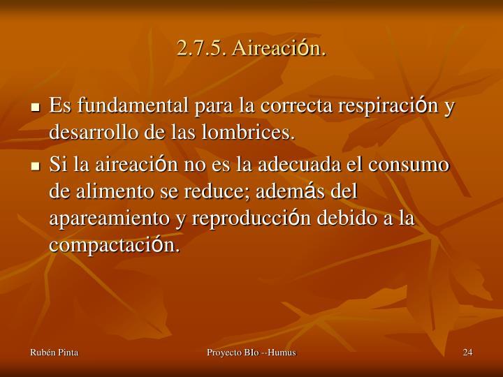 2.7.5. Aireaci