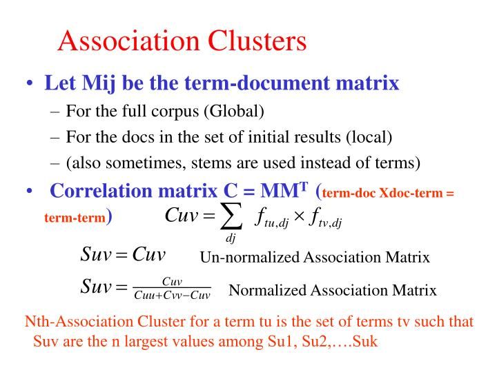 Association Clusters