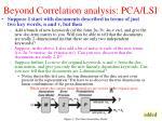beyond correlation analysis pca lsi