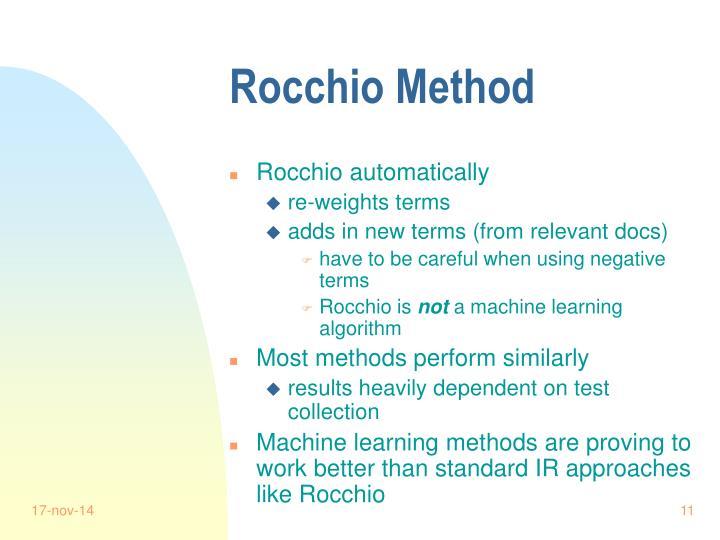 Rocchio Method