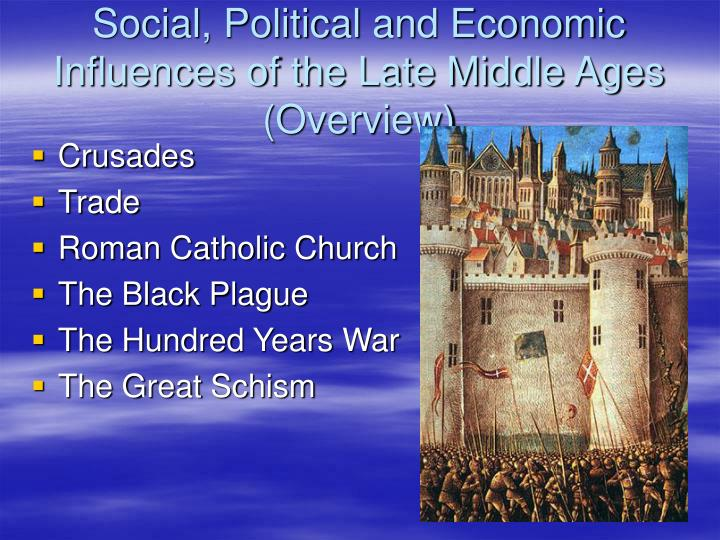 Social, Political and Economic Influences of the Late Middle Ages (Overview)
