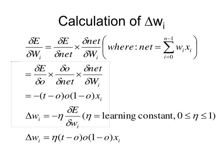 Calculation of ∆w