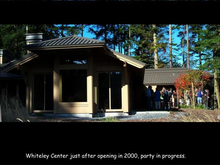 Whiteley Center just after opening in 2000, party in progress.