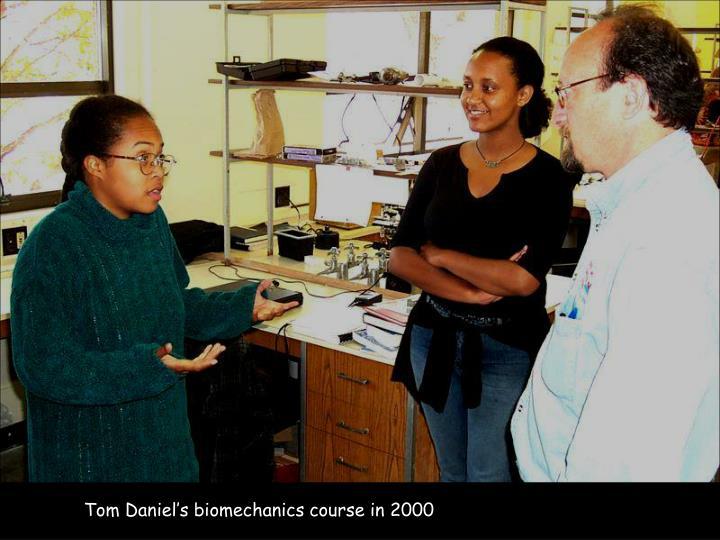 Tom Daniel's biomechanics course in 2000